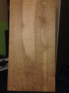 Full Scale Layout of Bench Stool Project