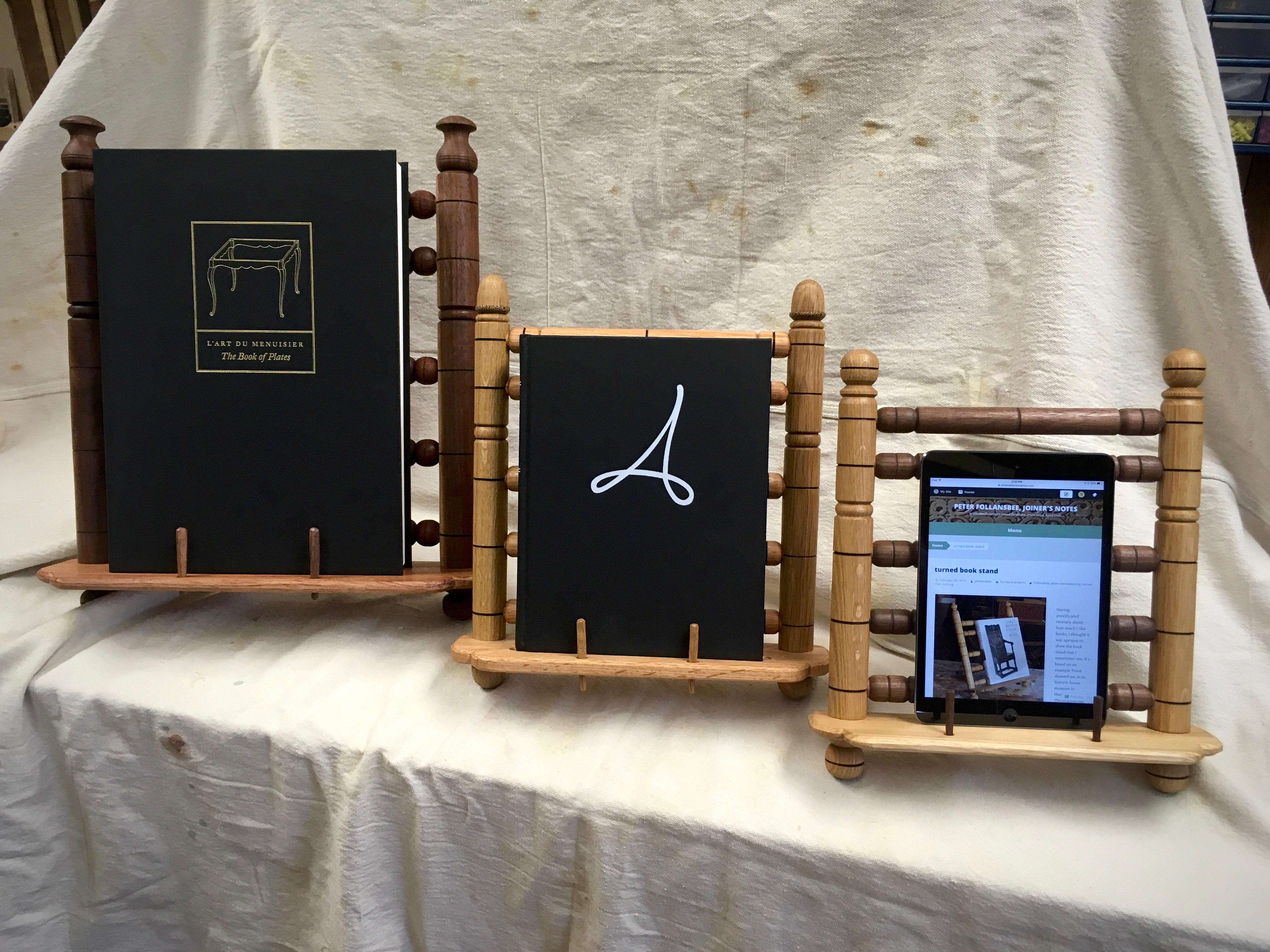ratcheting book stand lathe project hillbilly daiku